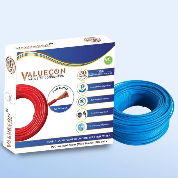 Valuecon PVC Blue 90 m Wire
