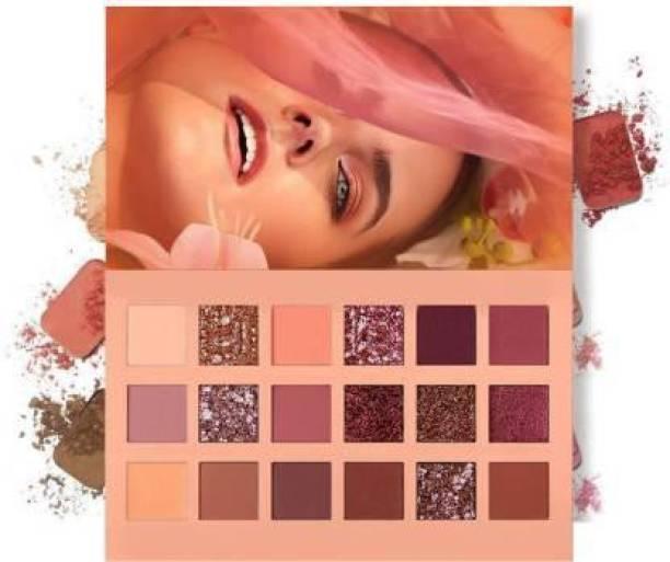 Flemmi New Nude Signature Perfect Elle Plum Velvet Blushed Icon Eyeshadow Palette 18 g 18 g