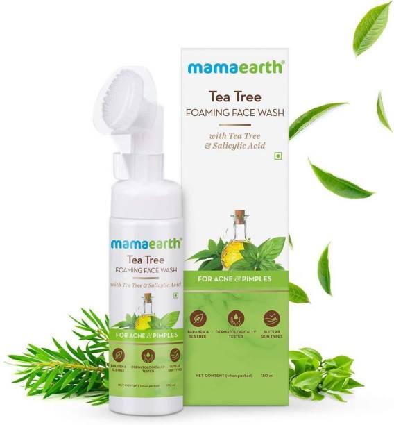 MamaEarth Tea Tree Foaming  with Tea Tree & Salicylic Acid for Acne & Pimples Face Wash
