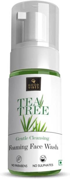 GOOD VIBES Foaming Tea Tree  (150 ml) Face Wash