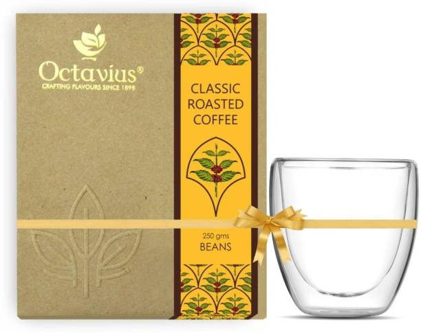 Octavius Classic Roasted Coffee Beans With Double Wall Cup Combo