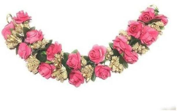 SR Sarthak Royal Flower Juda Gajra Bun Clip for women and girls Bun Clip
