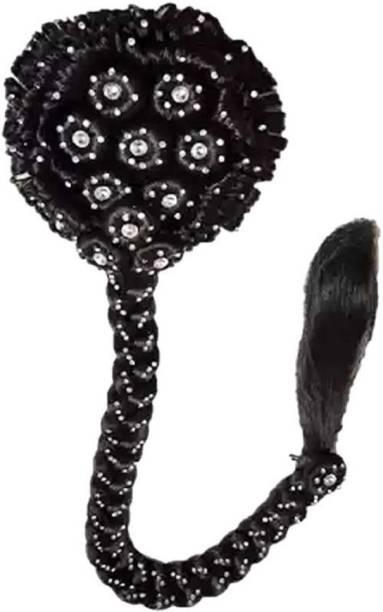 BELLA HARARO Artificial Juda Maker Gajra Juda Hair Bun Black Color Hair Accessories for Wedding Pack of 1 Bun