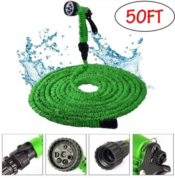 Topex Car Washer Expandable Magic Flexible Garden Water 15m Hose Plastic Hoses Pipe with Spray Gun Hose Pipe