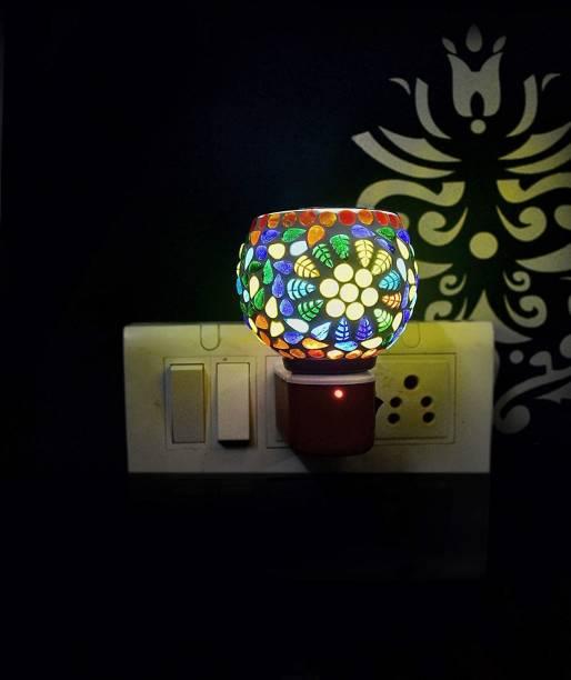 ASHTAMANGAL Electric Incense burner or kapoor dani With night lamp multicolour N_17 Glass Incense Holder