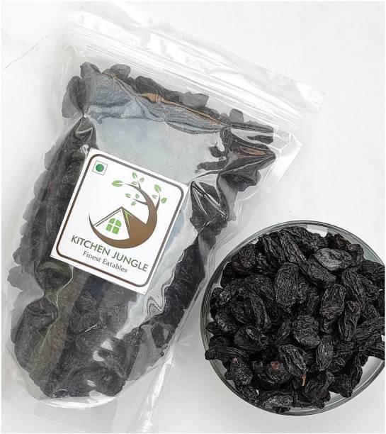 Kitchen Jungle Black Raisins |Seedless Dry Grapes kali kishmish dry fruits Raisins