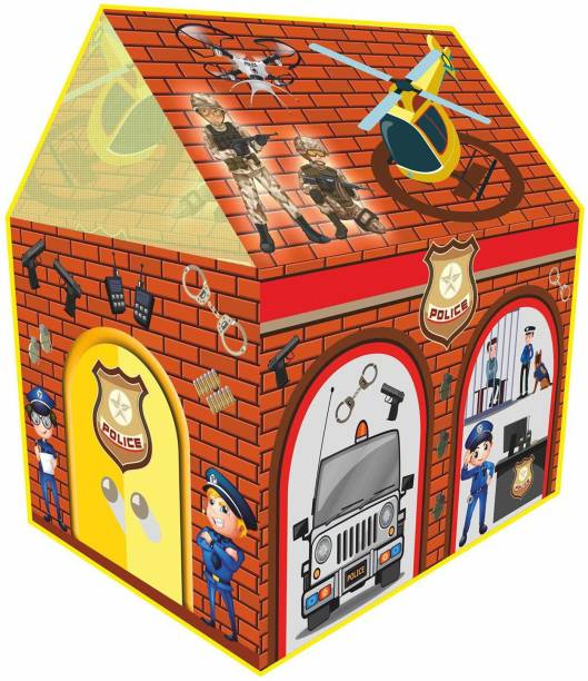 Miss & Chief Jumbo Size foldable and portable Police Station printed Theme play tent house , Play Zone ,for indoor and outdoor