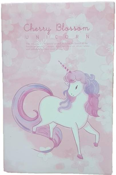 Rack Jack Unicorn Folding Sticky Notes Book with Page Markers 20 Sheets Regular, 7 Colors