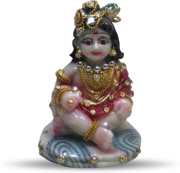 ARD ENTERPRISE Stone Dust Rasin Mixed Handmade Table Decorative Baby Krishna(Gopal) Showpiece Decorative Showpiece  -  11 cm