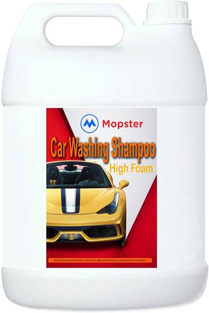 Mopster Nxt Generation Car Wash pH Balanced Rich Lather Shampoo with Water softeners for spot Free Car Washing Liquid (2000 ml) Car Washing Liquid