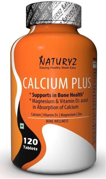 NATURYZ Calcium Plus Formula With Vitamin D3, Zinc And Magnesium