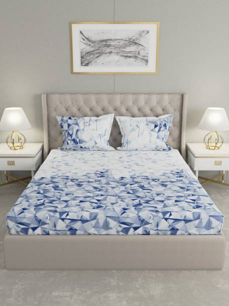Raymond Home 200 TC Cotton Double King Abstract Bedsheet