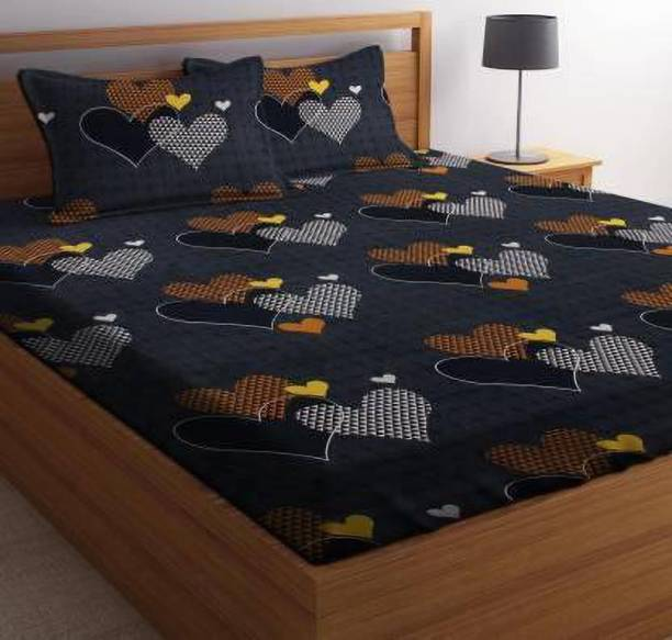 SACHIN ENTERPRISES 280 TC Microfiber Double King Printed Bedsheet
