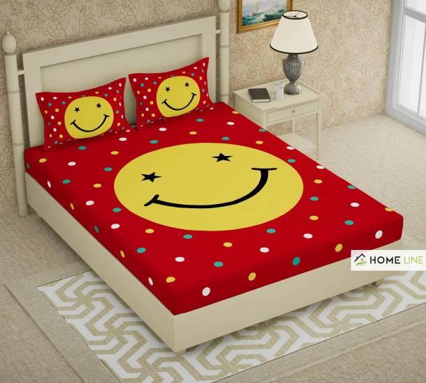 Homeline 150 TC Cotton Double King Self Design Bedsheet