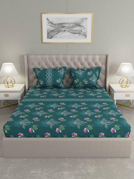 Raymond Home 200 TC Cotton Double King Floral Bedsheet