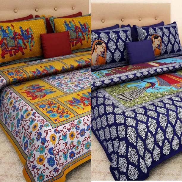 KAANY FAB 180 TC Cotton Double Animal Bedsheet