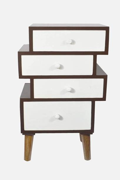 UHUD CRAFTS UHUD CRAFTS 4 Tier Multipurpose Cabinet Drawer | Storage Chest | Organizer Cabinet with 4 Tier Chest of Drawer (52 cm x 26 cm x 21 cm) Solid Wood Free Standing Chest of Drawers