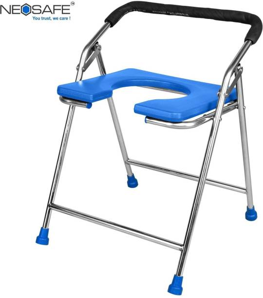 NEOSAFE Stainless Steel Commode Chair Mini ss Commode Chair