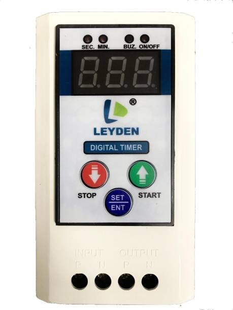 Leyden TM-CYC 230V, 30A Single Phase Digital Cyclic & Auto Stop Up 1 To 999 Seconds Programmable Electronic Timer Switch (White) Programmable Electronic Timer Switch