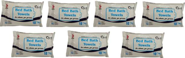 Oasis Hygiene Bed Bath Towel Wet Wipes for Adults, Patients & Refreshing Sponge Bath SIZE ( 30CM*32CM)