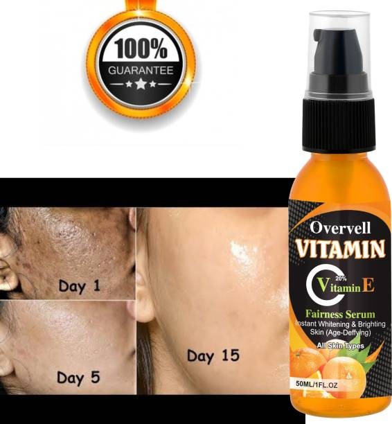 overvell Aloe Vera Extract 40% Vitamin C Face with Hyaluronic Acid for Brightening and AntiAging (50 ml)