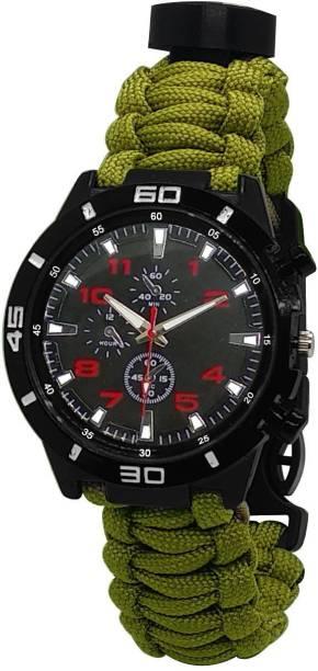 TrustShip Emergency Survival Bracelet Watch,Paracord/Whistle/Fire Starter/Scraper/Compass Flint Fire Starter Striker Included
