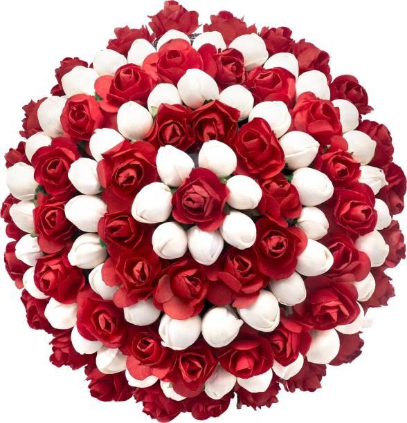 PEORA Artificial Flower Bun Juda Flower Gajra Festive Hair Accessories for Women & Girls Wedding Bun