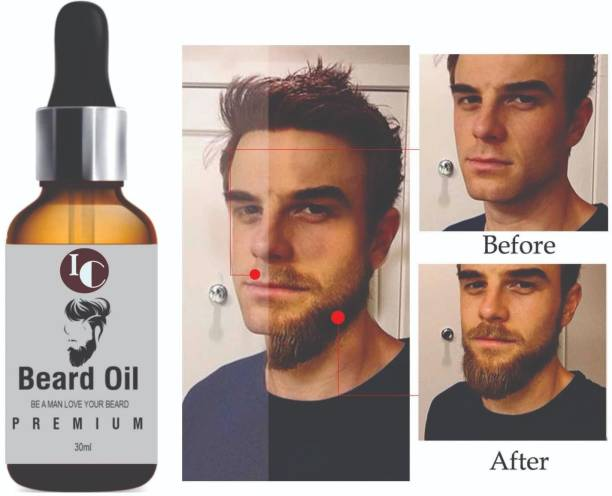INDO CHALLENGE PREMIUM BEARD OIL- Enriched with Rose & Sandalwood oil For Fast Beard Growth , Beard Oil For Men For Thicker And Longer Beard For Specially Men Beard Grooming Hair Oil