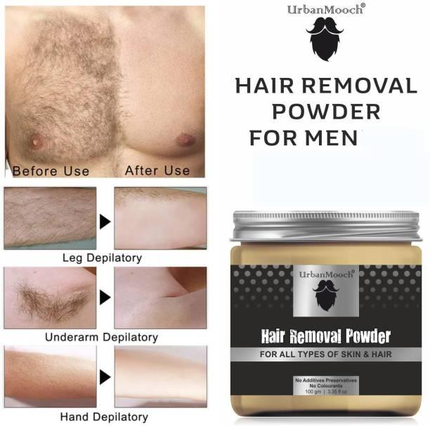 UrbanMooch Natural & Organic Hair Removal Powder For Men- All Skin & Hair Types Cream