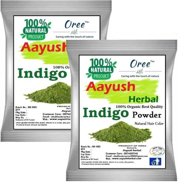Aayush herbal INDIGO POWDER PREMIUM QUALITY 100% Natural For Hair Color (100gX2)