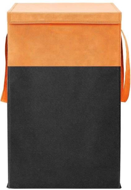 Unicrafts 68 L Orange, Black Laundry Basket