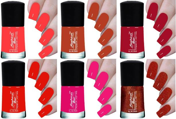 Fashion Bar NEW HD INFINITE POWER LASTING NAIL POLISH Coral Pink, Toffee Nude, Mulberry, Blood Red, Hot Pink, Shimmer Copper Brown