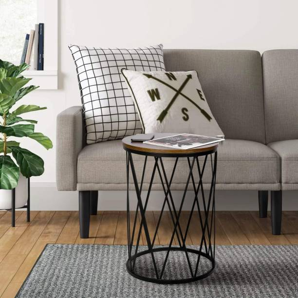 Anantwoodcraft Wood, Iron Nesting Modern Decor Accent Coffee Side, Stacking End Table for Home Office with an Industrial Wood Finish and Metal Frame Engineered Wood Nesting Table