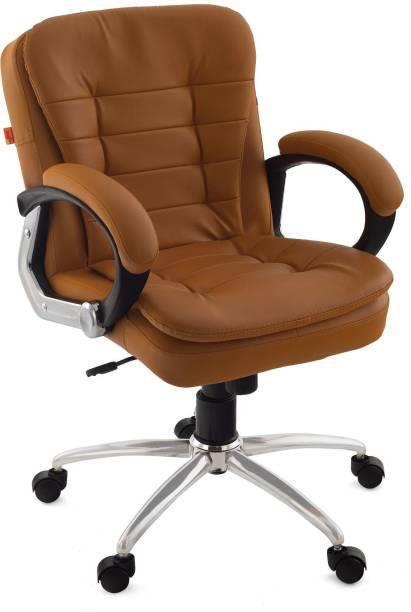 Da URBAN Milford Camel Leather Office Executive Chair