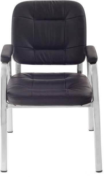 Da URBAN Dalton Black Leatherette Office Visitor Chair