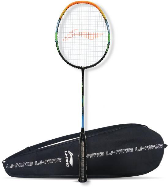 LI-NING G-Force 3700 Superlite Black, Orange Strung Badminton Racquet
