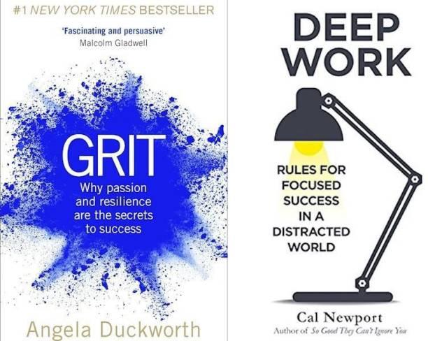 Grit, Deep Work (Set Of 2 Bestseller Books)