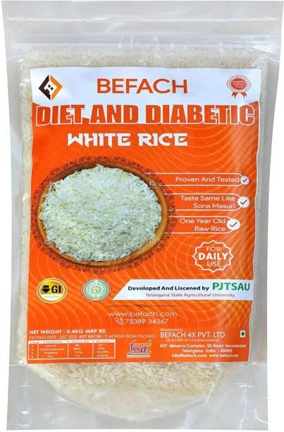 Befach Diabetic & Diet white Sona Masoori Rice (Medium Grain, Polished)