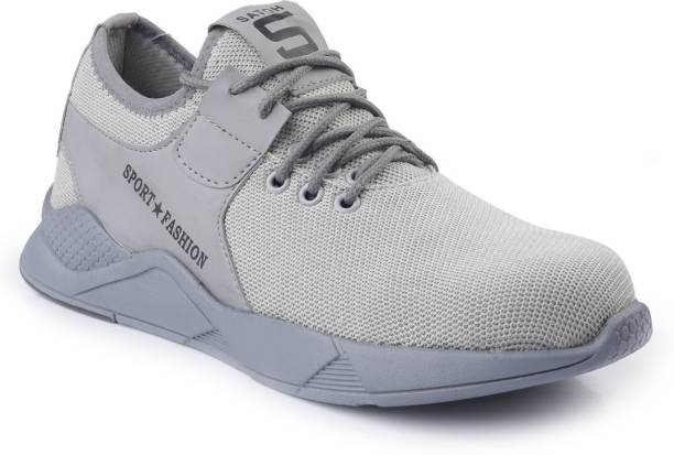 Woakers GREY-BLK-SHARK-SAFTEY-9 Steel Toe Synthetic Leather Safety Shoe