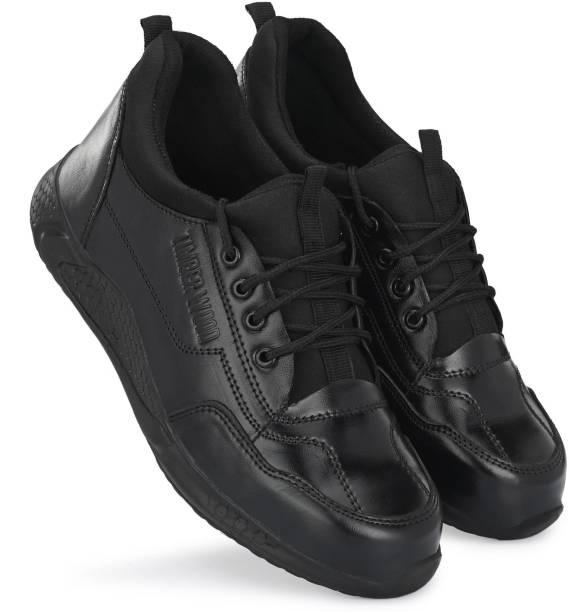 Timberwood TW64-Stylish Black Steel Toe Genuine Leather Safety Shoe