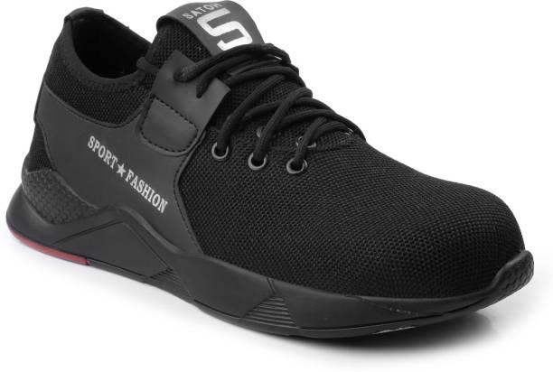 Woakers BLK-FASHION-SAFTEY-8 Steel Toe Synthetic Leather Safety Shoe
