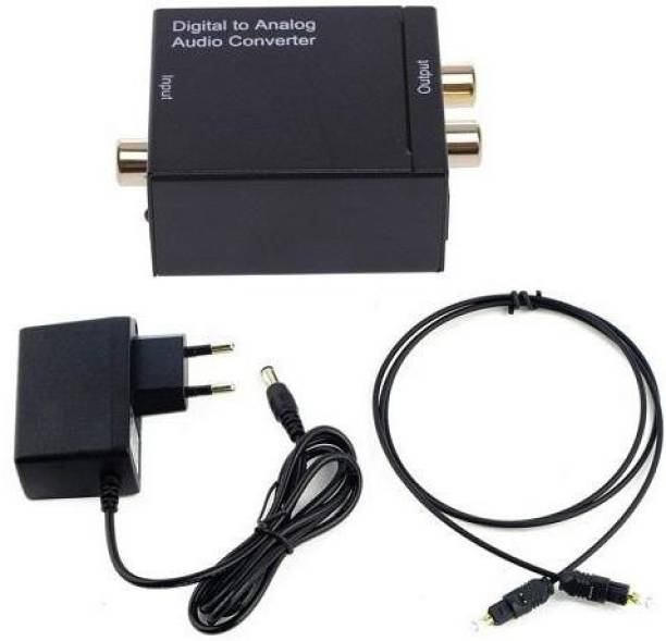 JAMUS Optical Input and RCA Output - Digital to Analog Audio Converter with optical cable Media Streaming Device