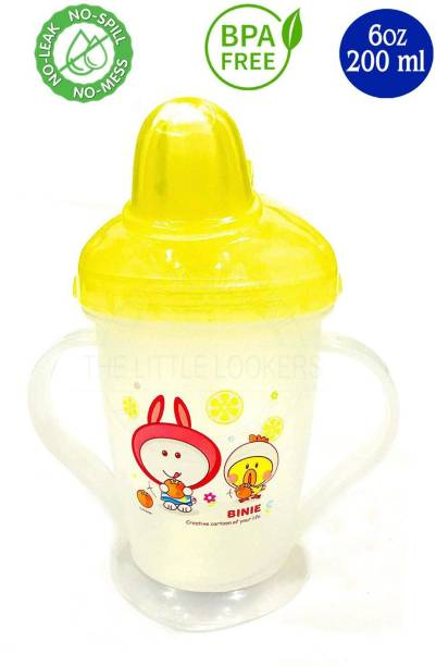 Miss & Chief Bpa Free Unbreakable Sippy Cup (Sipper Mugs for Kids/Children/Babies/Infants) Soft Spout Infant PP Water/Juice Training Sipper Cup with Handles 200 ml (Yellow)