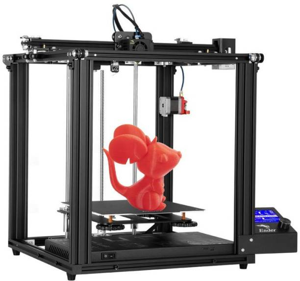 Creality Ender-5 Pro 3d printer Cubic-constructure 3d printer kit, dual Y-axis designed, silent motherboard included to avoid noise occurs, together with a removable platform, these features help unlock the uninterrupted printing of 100% filament feed in-out.| Build Volume 220 x 220 x 300mm 3D Printer