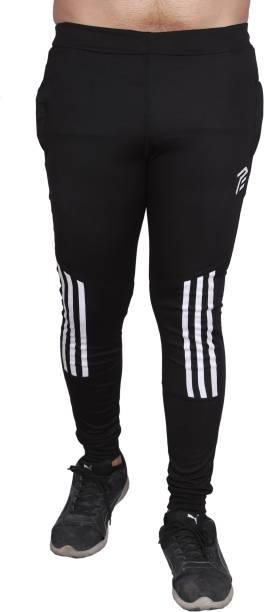 3SIX5 Solid Men Black Track Pants