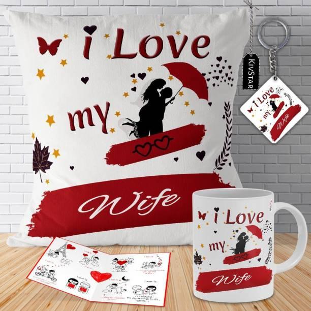 KivStar Cushion, Mug, Greeting Card, Keychain Gift Set