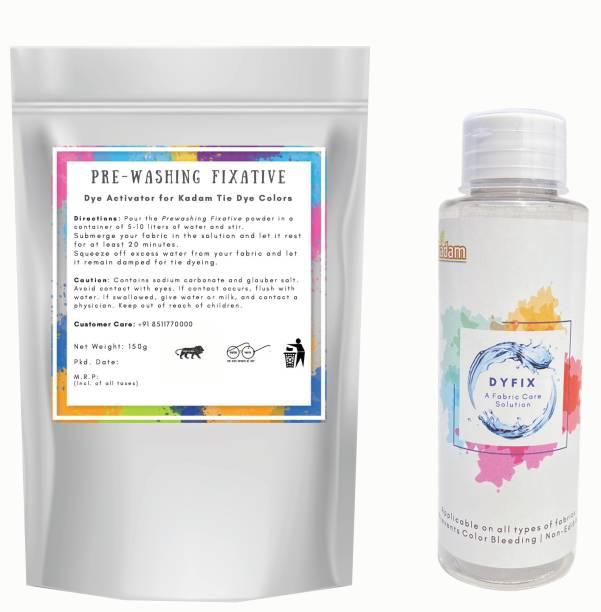 KADAM DyFix + Prewash Fixative Powder Combo for Tie Dye Colors, fabric colour fixer