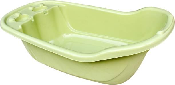 Miss & Chief Smart Clean Big Size Bath Tub for Baby with Anti Slip/Baby Bath Tub for Newborn/Infants Portable Baby Bath Tub for 0-2 Years Old Baby (Bath Tub_Green)