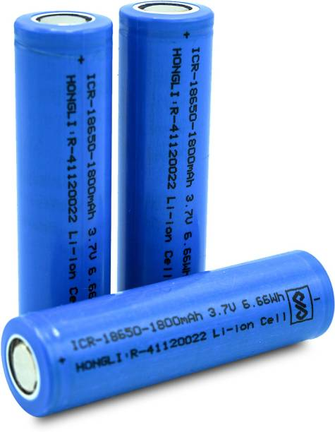 Hongli 3.7 Volt Rechargeable Lithium ion  Cell 1800 mah (it is not AA and AAA Size) (Pack of 9 Piece)  Battery