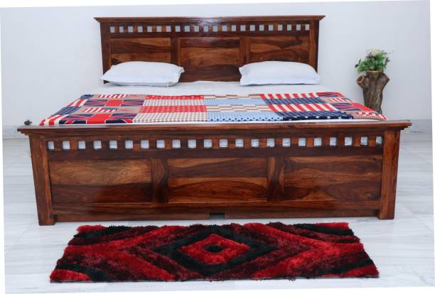 FURINNO Solid Wood King Bed